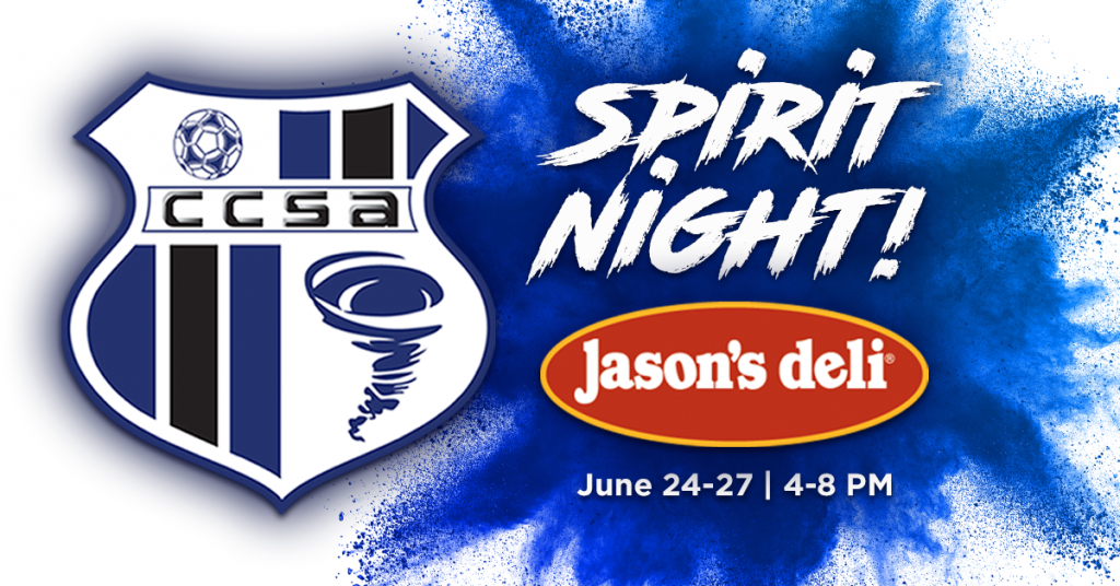 CCSA Spirit Night at Jason's Deli (Cape Coral) on June 24-27 at 4-8pm